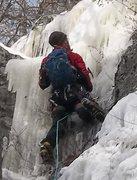 Rock Climbing Photo: Ryan Barber leading V8 Juice