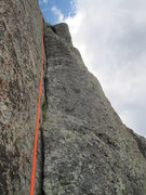Rock Climbing Photo: Beautiful cracks on the last pitch of Highrise But...