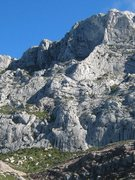Rock Climbing Photo: The tower of Aiguille Bertine  At the base of Sain...