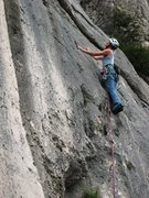 Rock Climbing Photo: On the upper stretch of Boulon de Gauche