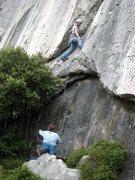 Rock Climbing Photo: Out of the trees on Boulon de Gauche