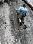 Rock Climbing Photo: Exact and thin face features on the start of Le Bo...