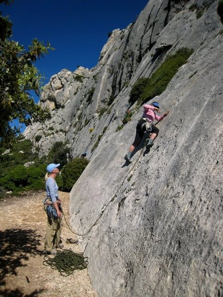 Rock Climbing Photo: Startin' up Les Gemeaux Jumeaux