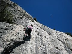 Rock Climbing Photo: L'Oubliée with a paraglider sighting in the blue ...