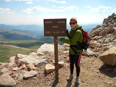 Rock Climbing Photo: my 1st 14er - mt evans