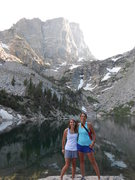 My friend, Madeline, and I hiking in Rocky Mountain National Park