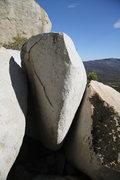 Off Camber - V5 <br />El Cariso Boulders, CA