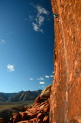 Rock Climbing Photo: Working on the Running Man onsight