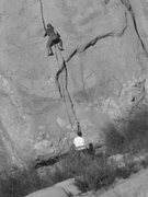 """Rock Climbing Photo: A leader just past the crux overlap of """"Humpt..."""