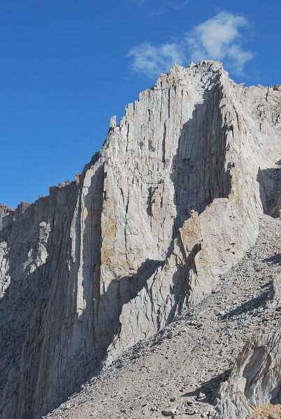 Rock Climbing Photo: A picture of Mt Russell from the saddle near Mt Wh...