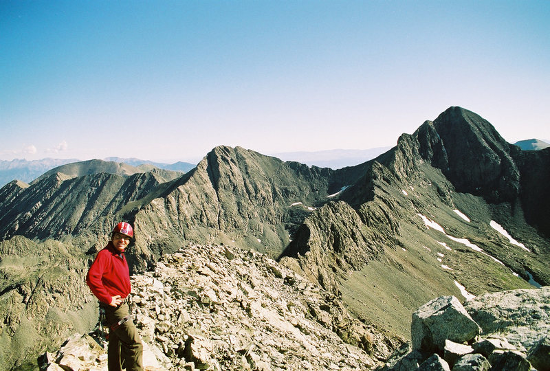 The traverse between Little Bear and Blanca peak. Colorado