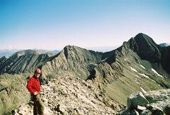 Rock Climbing Photo: The traverse between Little Bear and Blanca peak. ...