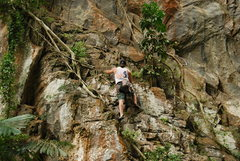 Rock Climbing Photo: Climbing and cleaning. The lost world of Tambun, I...