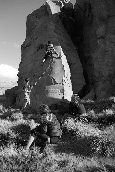 "Rock Climbing Photo: Climber ""Nano"" in ""La Paila"" 5..."