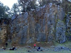 Rock Climbing Photo: Scale Wall on a frosty winter day.