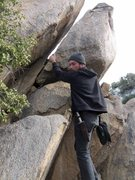 Rock Climbing Photo: Me playing with the bottom, haven't attempted to s...