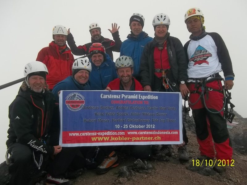 Rock Climbing Photo: Second trip;  On Top of Carstensz Pyramid Oktober ...