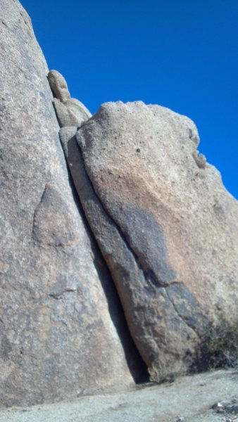 Rock Climbing Photo: Use both cracks.