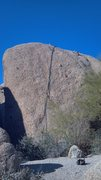 Rock Climbing Photo: We did a left and right route on this face, both p...