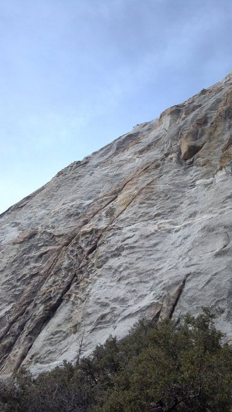 Rock Climbing Photo: It's the right crack line.