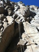 Rock Climbing Photo: The rope marks the line I took roughly, a little z...