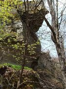 Rock Climbing Photo: If it was cleaned up a bit it looks like there wou...