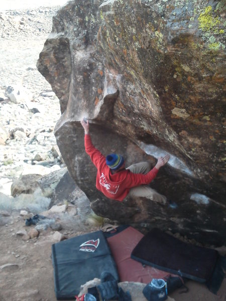 Rock Climbing Photo: Ben Riley on Gription; on a cold cold day in Janua...