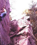 Rock Climbing Photo: Tommy headed for Death Leap 2000