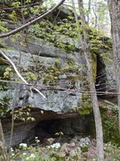 Rock Climbing Photo: This shot shows the entrance(s) to the Bat Cave. T...