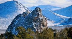 Rock Climbing Photo: Bath Rock in winter.