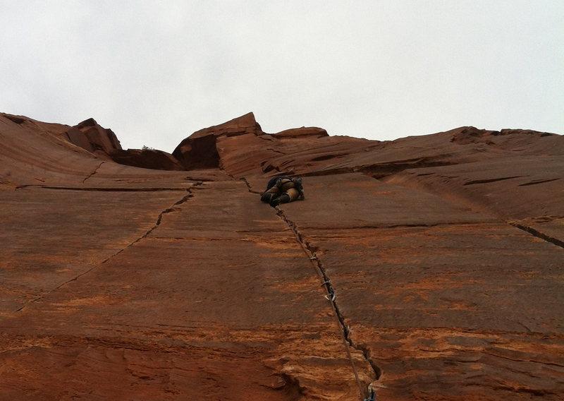 Matt Pesce climbing in style