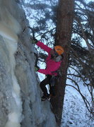 Rock Climbing Photo: Cold and wet
