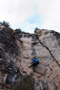"Rock Climbing Photo: Reggie at the ""official"" start of Monste..."