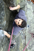 Rock Climbing Photo: upper part of the crack