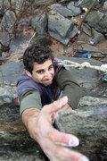 Rock Climbing Photo: reaching for the finishing hold
