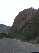 Rock Climbing Photo: The West face of El Reliz as viewed when driving f...