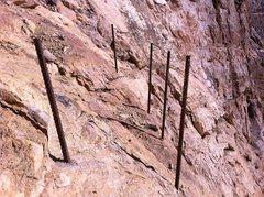 Rock Climbing Photo: Abandoned, unused re-bar.