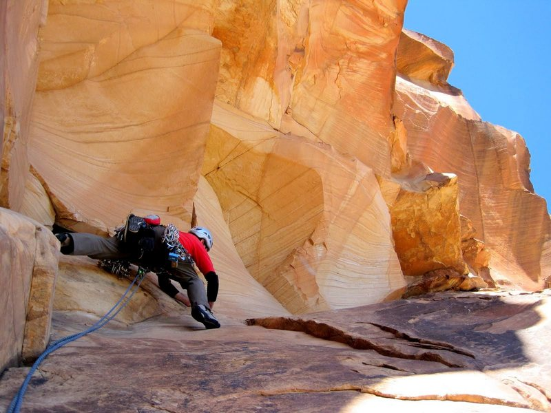 Rock Climbing Photo: Jubilant Song - Martin Bennett on the roof travers...