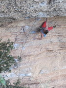 Rock Climbing Photo: Trying not to be intimidated, but failing