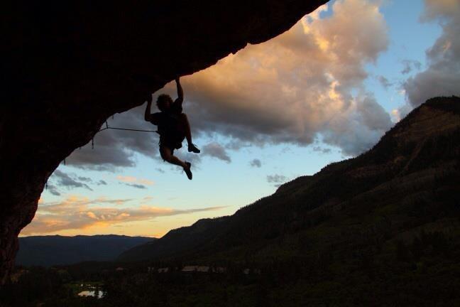 Rock Climbing Photo: Guzzle it!