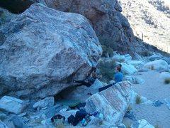 Rock Climbing Photo: Elina on New Moon