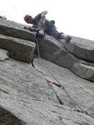 Rock Climbing Photo: John heading through the roof!