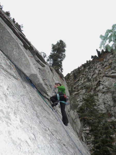 Rock Climbing Photo: Melissa at the start of Sasquatch