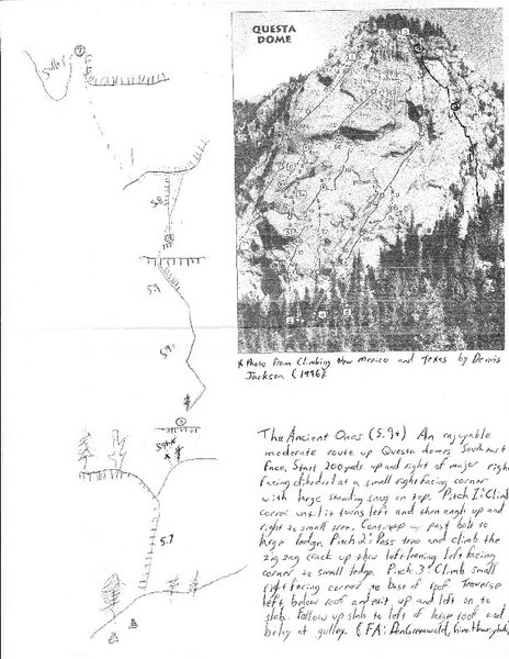 The Ancient Ones topo. From http://www.climbingschoolusa.com/newrouteinformation/newrouteimages/ancienttopo.pdf