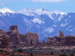 Rock Climbing Photo: Arches N.P.  Moab Spring 09'