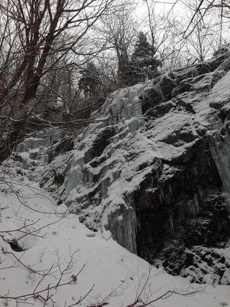Rock Climbing Photo: A photo of two ice tunnels off the left side of th...