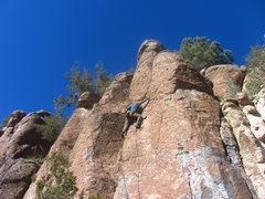 Rock Climbing Photo: Ryan leading Harmony in my Head