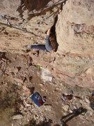 Rock Climbing Photo: Andrea climbing PCN.