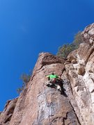 Rock Climbing Photo: Luke Bollinger going for an onsight.
