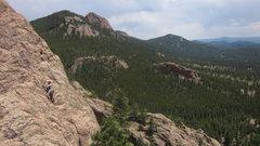 Rock Climbing Photo: Solar Ridge, Cascades Wall, Meadow Dome.  Photo by...